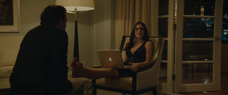 Christian Louboutin Shoes and MacBook Laptop Used by Jessica Chastain in Molly's Game (2017) Movie Product Placement