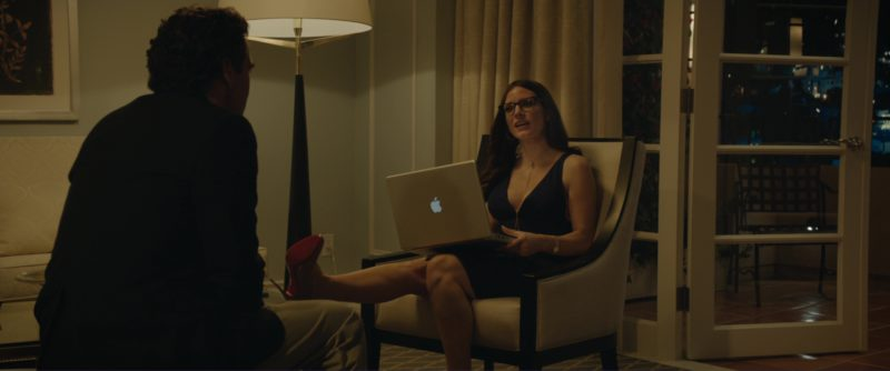 Christian Louboutin Shoes and MacBook Laptop Used by Jessica Chastain in Molly's Game (2017) - Movie Product Placement