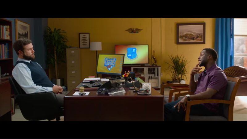 Dell Monitor in Night School (2018) - Movie Product Placement