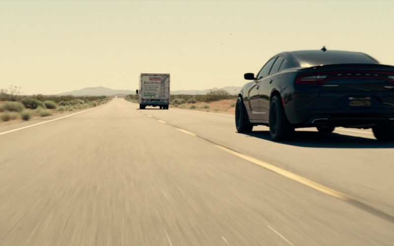 Dodge Charger SRT Car and Uhaul Truck (1)