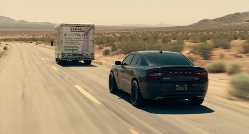 Dodge Charger SRT Car and U-haul Truck in Roman J. Israel, Esq. (2017) Movie Product Placement