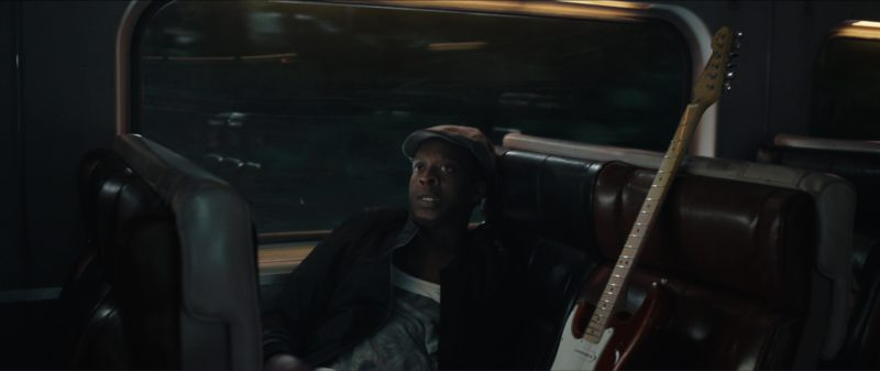 Fender Guitar in The Commuter (2018) Movie Product Placement