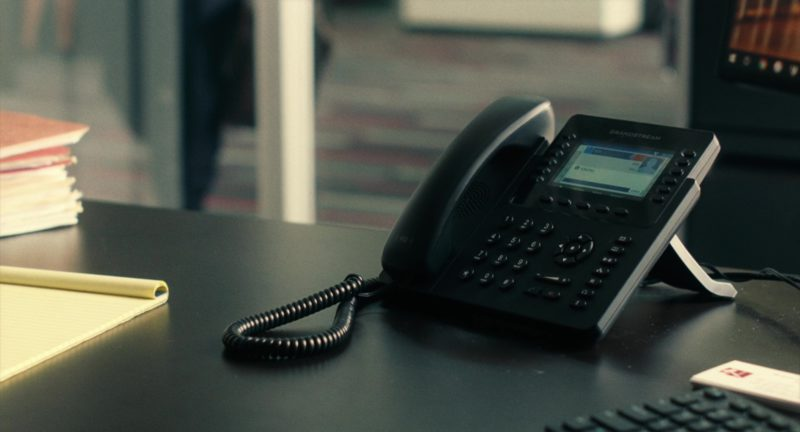 Grandstream Phone Used by Denzel Washington in Roman J. Israel, Esq. (2017) - Movie Product Placement