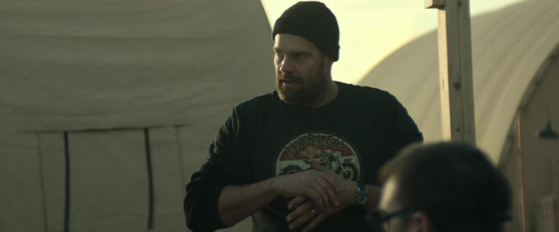Harley-Davidson Sweatshirt in 12 Strong (2018) Movie Product Placement