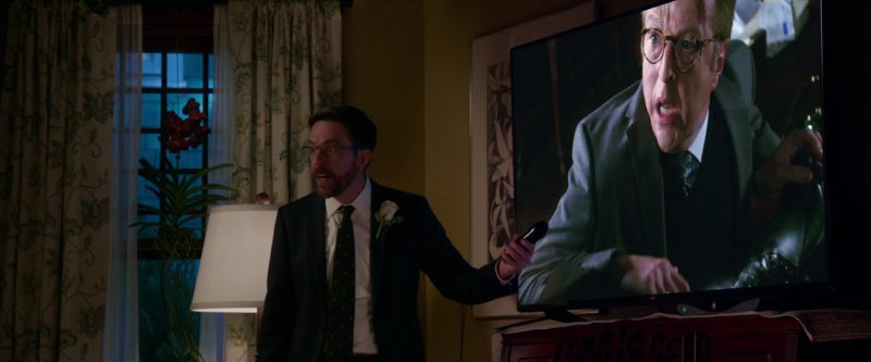 LG Flat Screen TV Used by Ed Helms in Father Figures (2017) - Movie Product Placement