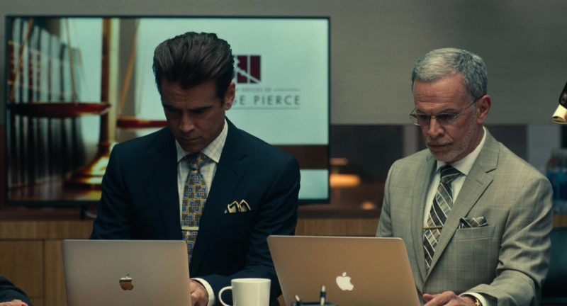 MacBook Laptops Used by Colin Farrell and Tony Plana in Roman J. Israel, Esq. (2017) - Movie Product Placement