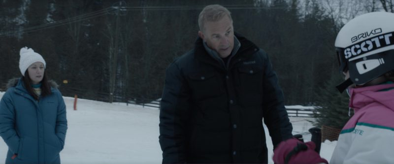 Marmot  Jacket Worn by Kevin Costner and Briko Helmet, Scott Wintersports Goggles Worn by Girl in Molly's Game (2017) - Movie Product Placement