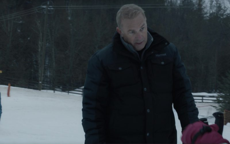 Marmot Jacket Worn by Kevin Costner and Briko Helmet, Scott Wintersports Goggles Worn by Girl (1)