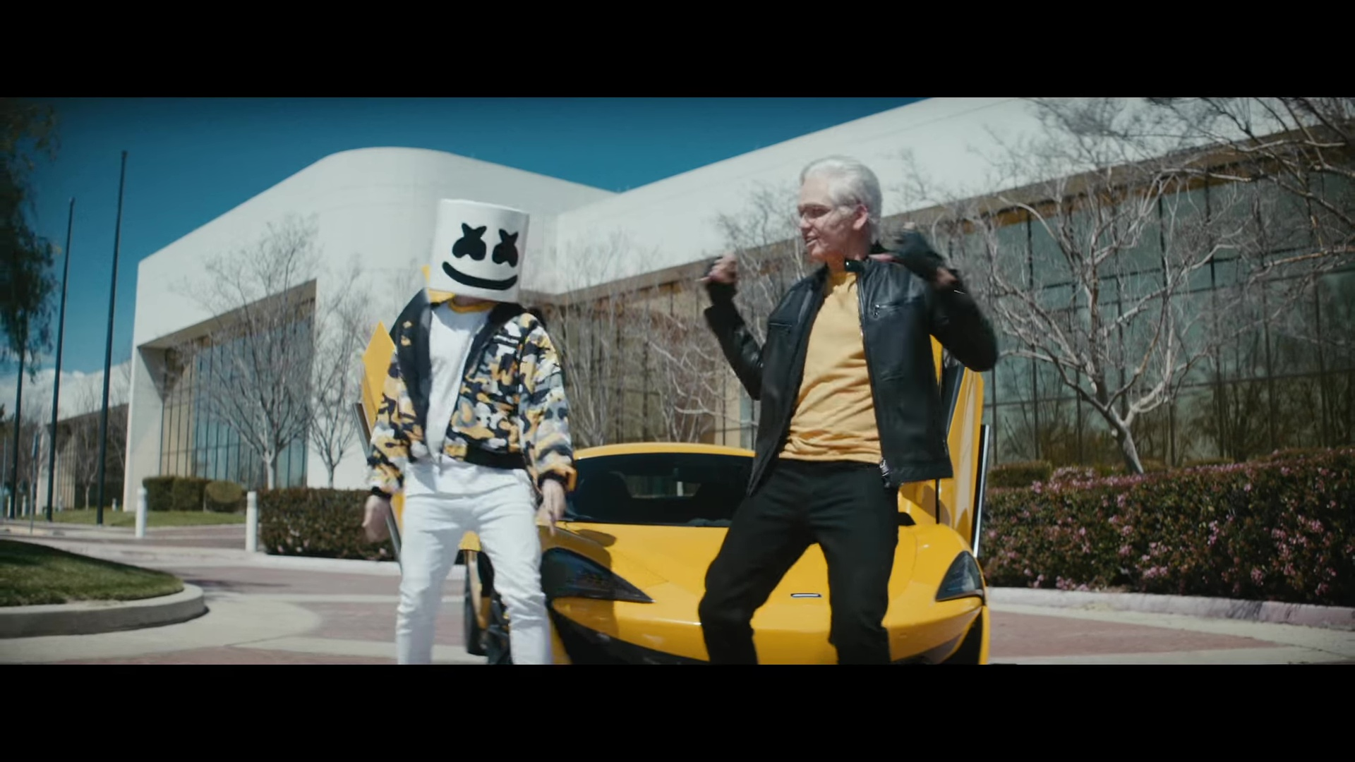 Sports Car Brands >> Mclaren Sports Car (Yellow) in Everyday by Logic and Marshmello (2018) Official Music Video