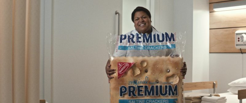 Nabisco Premium Saltine Cracker in Downsizing (2017) - Movie Product Placement