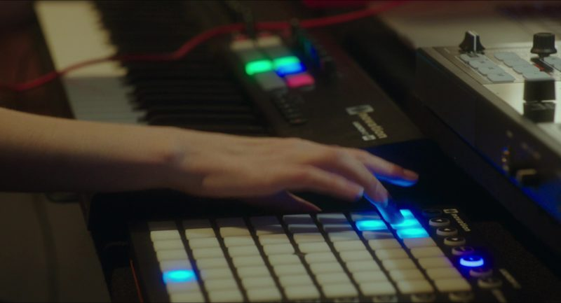 Novation Launchpad Used by Anna Kendrick and Guy Burnet in Pitch Perfect 3 (2017) Movie Product Placement