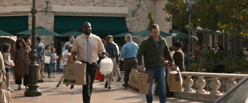 Olive Garden Restaurant Paper Bags Used by Matt Damon in Downsizing (2017) - Movie Product Placement