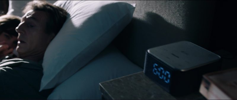 Philips Clock Radio Used by Sam Neill in The Commuter (2018) Movie Product Placement