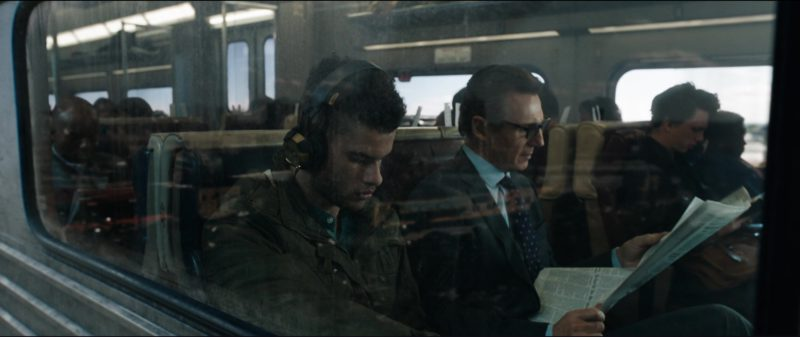 Philips Headphones (HX5) in The Commuter (2018) Movie Product Placement