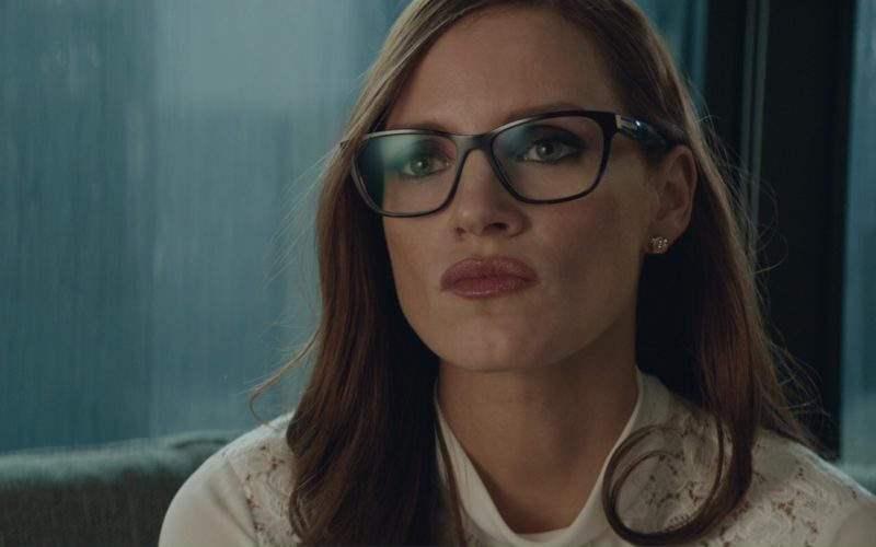 Prada Square Plastic Eyeglasses Worn by Jessica Chastain in Molly's Game (10)