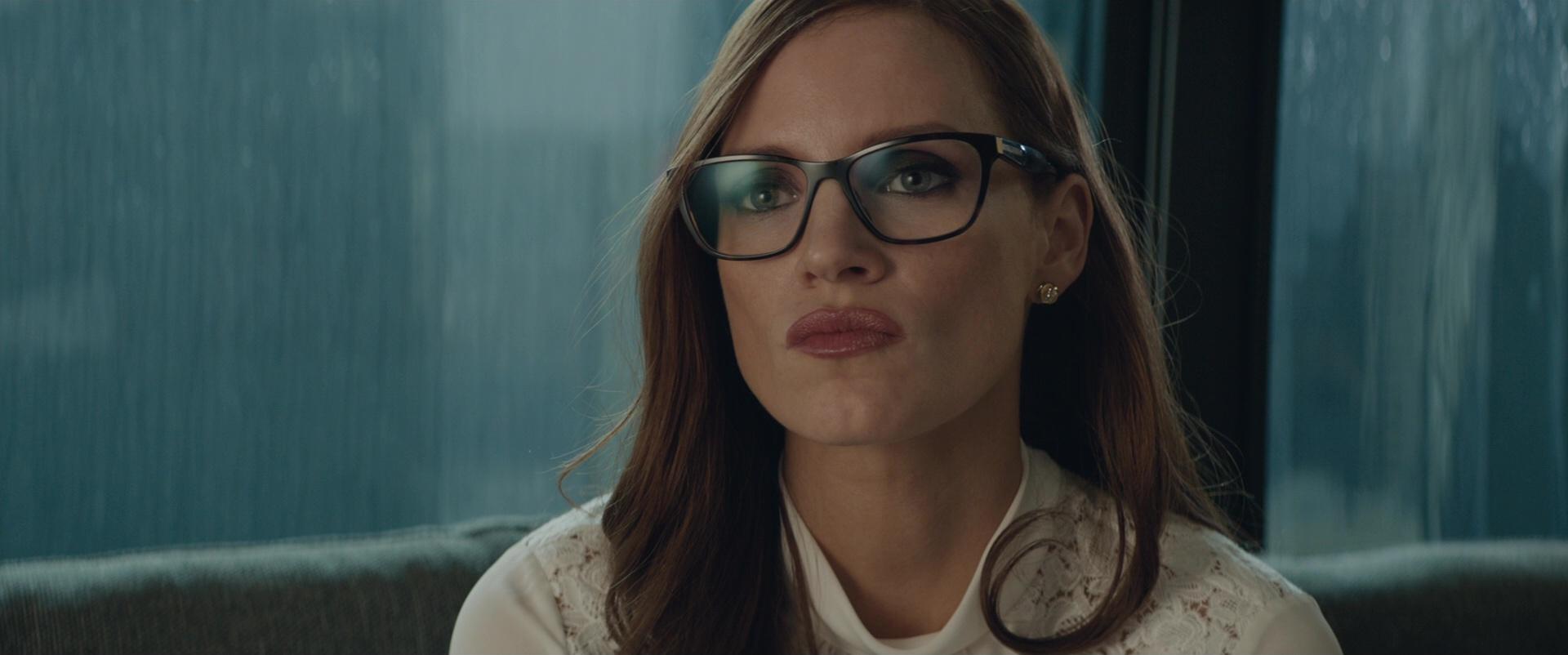 Black Toyota Tacoma >> Prada Square Plastic Eyeglasses Worn by Jessica Chastain ...