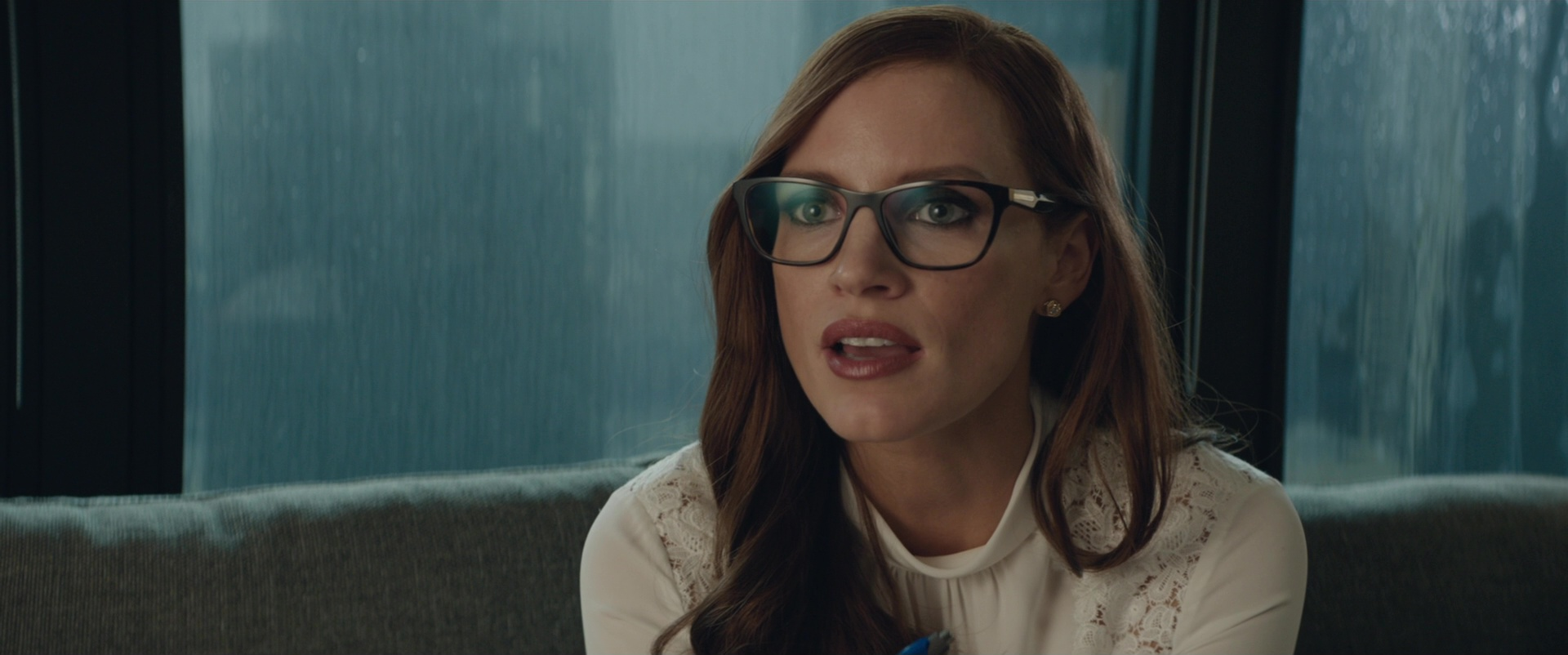 Prada Square Plastic Eyeglasses Worn By Jessica Chastain