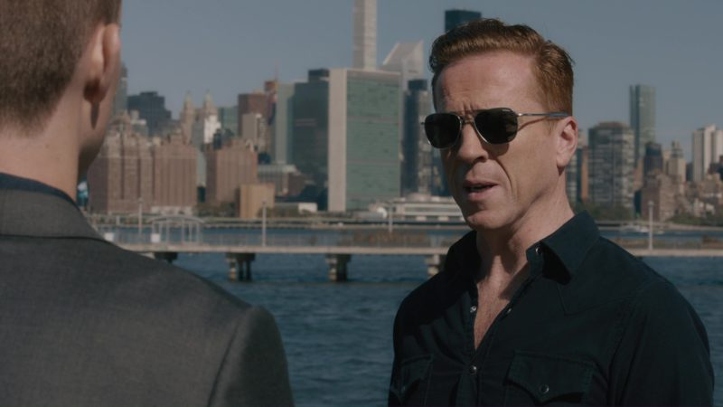Randolph Engineering Military Aviator Sunglasses Worn by Damian Lewis in Billions: The Wrong Maria Gonzalez (2018) TV Show Product Placement