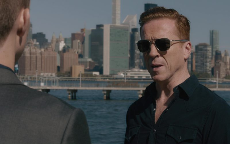 Randolph Engineering Military Aviator Sunglasses Worn by Damian Lewis in Billions (2)