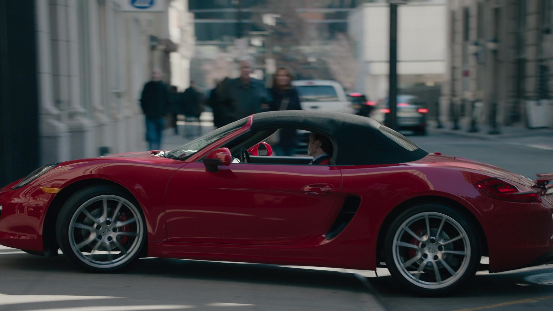 Red Porsche 718 Boxster Car Driven By Stephen Kunken In