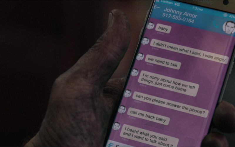 Samsung Galaxy Smartphone Used by Sam Neill in The Commuter