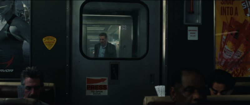 Slim Jim Posters in The Commuter (2018) Movie Product Placement