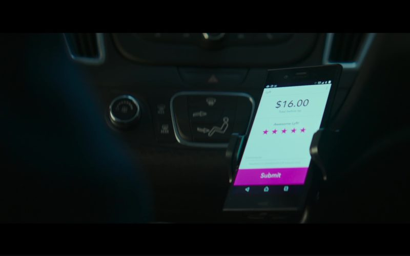 Sony Xperia Smartphone and Lyft App in The Equalizer 2 (1)