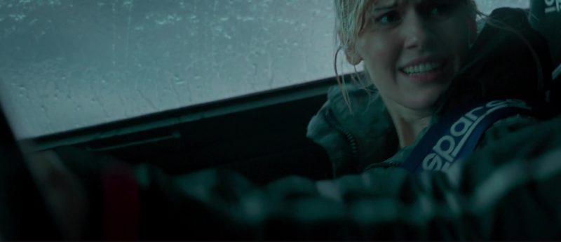 Sparco Belt Used by Maggie Grace in The Hurricane Heist (2018) Movie Product Placement