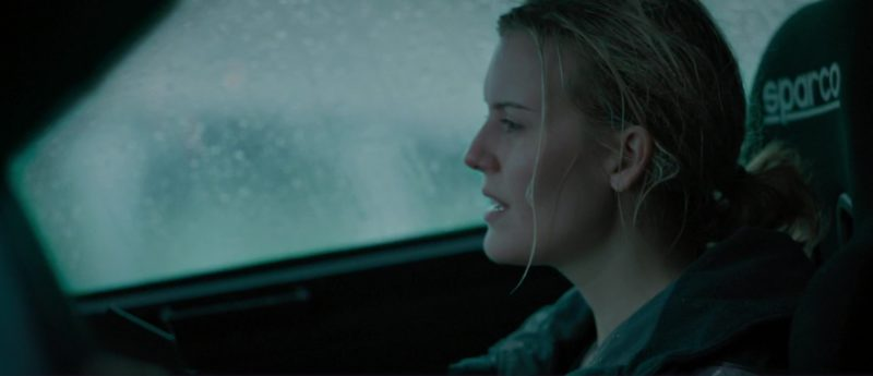 Sparco Car Seat Used by Maggie Grace in The Hurricane Heist (2018) Movie Product Placement