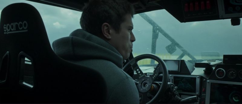 Sparco Seat and Steering Wheel Used by Toby Kebbell in The Hurricane Heist (2018) Movie Product Placement