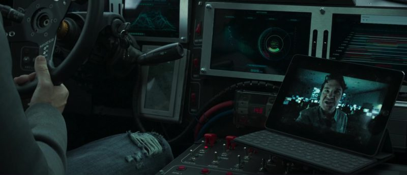 Sparco Steering Wheel And Apple iPad Used by Toby Kebbell in The Hurricane Heist (2018) Movie Product Placement