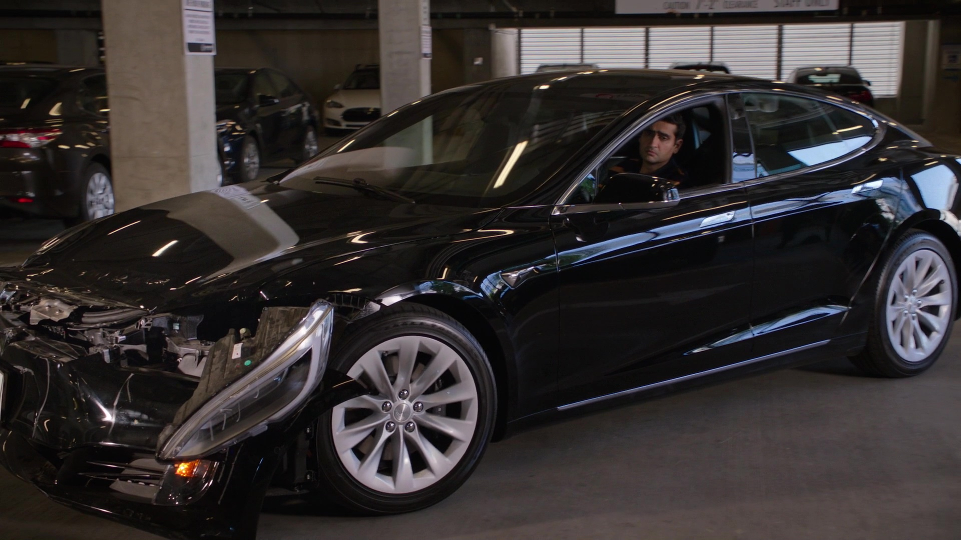 Tesla Model S Car Driven By Kumail Nanjiani Dinesh In