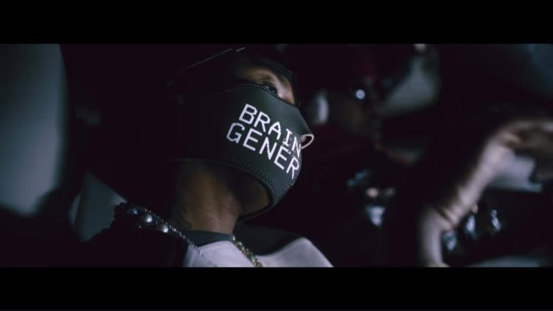 Undercover Brainwashed Generation Face Mask in Aries (YuGo) Part 2 by Mike WiLL Made-It, Rae Sremmurd, Big Sean ft. Quavo, Pharrell (2018) Official Music Video Product Placement