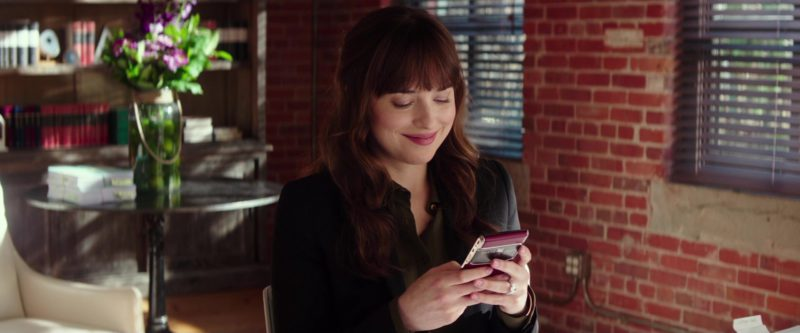 Vertu Phone (Red) Used by Dakota Johnson in Fifty Shades Freed (2018) - Movie Product Placement