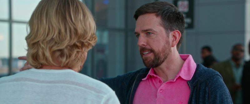 Vilebrequin Pink Polo Shirt Worn by Ed Helms in Father Figures (2017) - Movie Product Placement