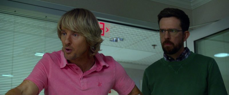 Vilebrequin Pink Polo Shirt Worn by Owen Wilson in Father Figures (2017) - Movie Product Placement