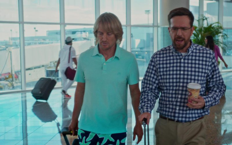 Vilebrequin Turquoise Polo Shirt Worn by Owen Wilson in Father Figures (1)