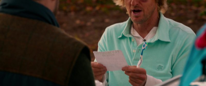 Vilebrequin Turquoise Polo Shirt Worn by Owen Wilson in Father Figures (2017) - Movie Product Placement