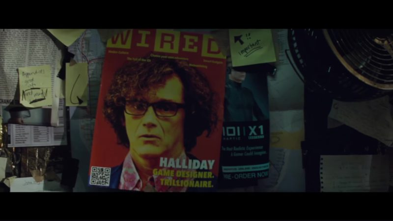 Wired Magazine Cover in Ready Player One (2018) Movie Product Placement