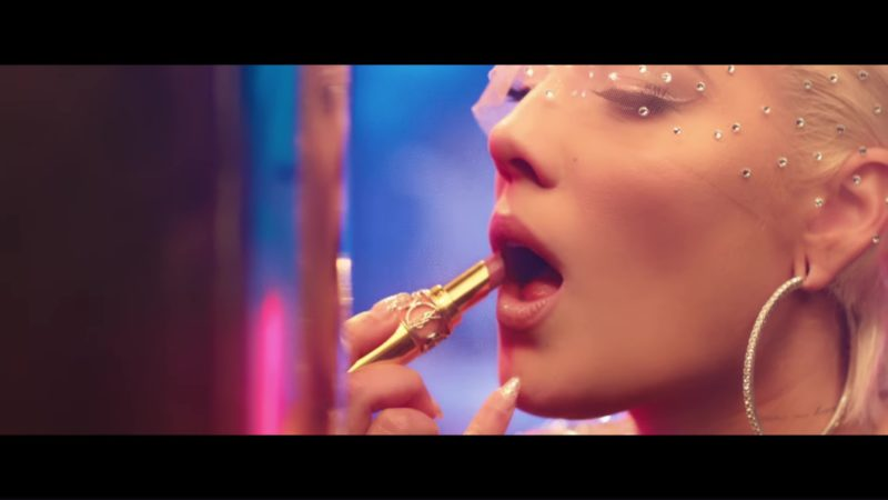 YSL Lipstick Used by Halsey in Alone ft. Big Sean, Stefflon Don (2018) Official Music Video Product Placement