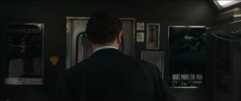 Zippo Lighters Posters in The Commuter (2018) Movie Product Placement