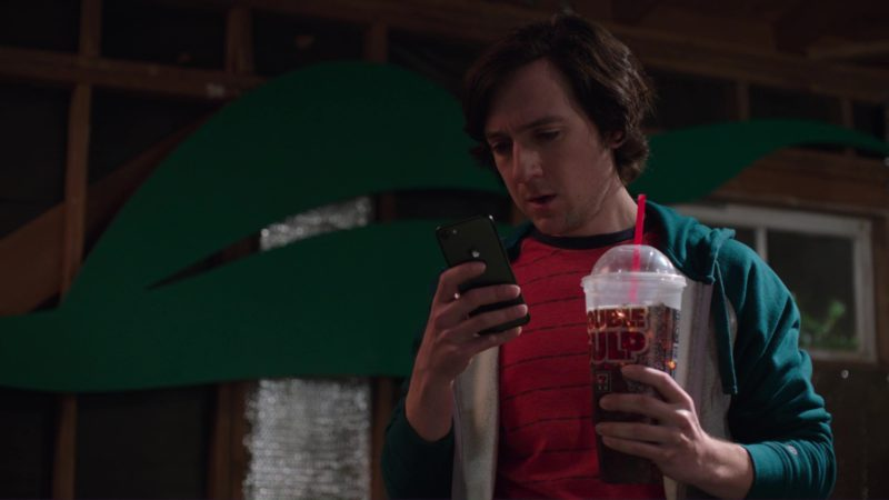 7-Eleven Double Gulp and Apple iPhone Used by Josh Brener (Big Head) in Silicon Valley: Artificial Emotional Intelligence (2018) - TV Show Product Placement