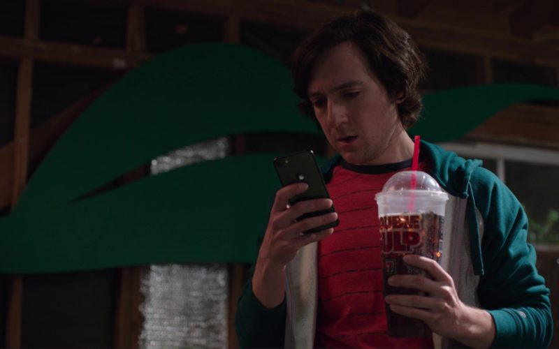 7-Eleven Double Gulp and Apple iPhone Used by Josh Brener (Big Head)