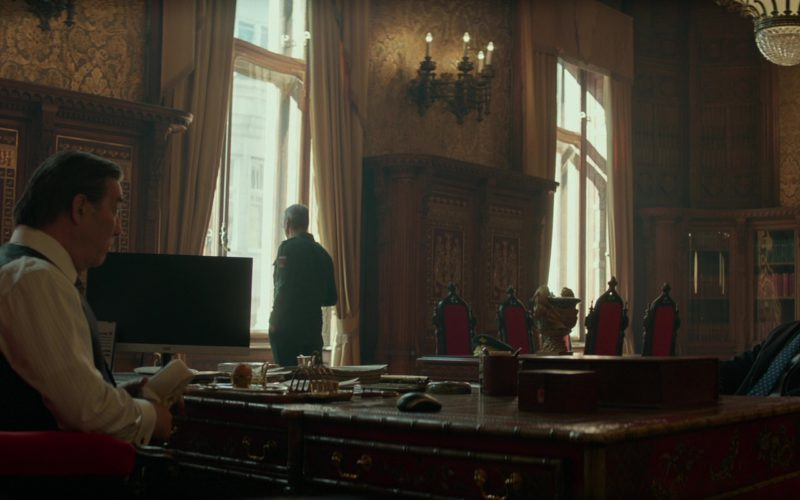 AOC Monitor in Red Sparrow
