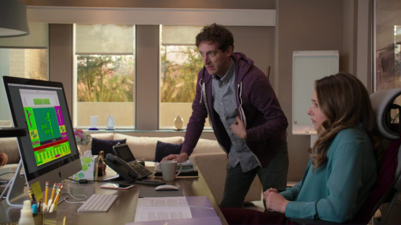 Apple iMac Computer and Cisco Phone Used by Amanda Crew in Silicon Valley: Artificial Emotional Intelligence (2018) - TV Show Product Placement