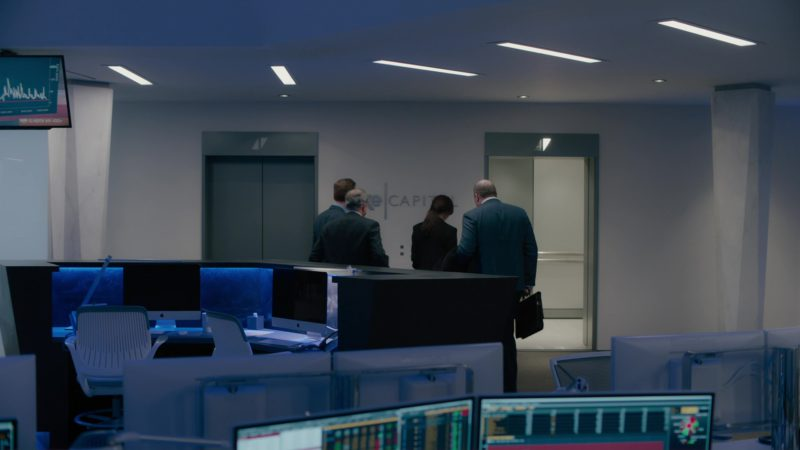 Apple iMac Computers and Bloomberg Terminals in Billions: Not You, Mr. Dake (2018) TV Show Product Placement