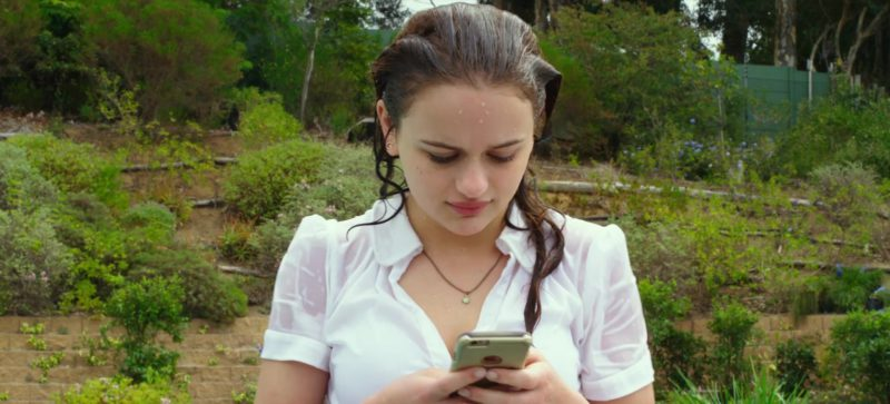 Apple iPhone Used by Joey King in The Kissing Booth (2018) - Movie Product Placement