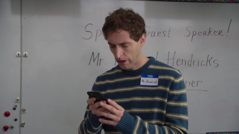 Apple iPhone Used by Thomas Middleditch in Silicon Valley: Facial Recognition (2018) TV Show Product Placement