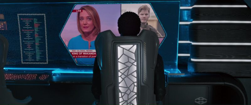 BBC Channel in Black Panther (2018) Movie Product Placement