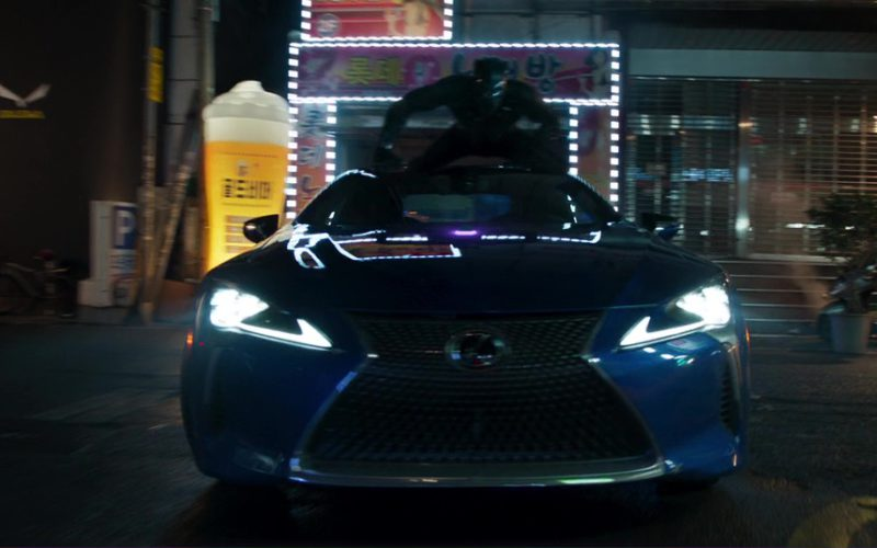 Blue Lexus LC 500 Car in Black Panther (6)